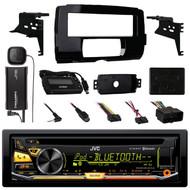 JVC Bluetooth USB CD Radio,Harley 2014-UP Install FLHT Adapter Kit, Sirius Tuner (R-K97BT-SXV300-99-9700-ASWC-1)