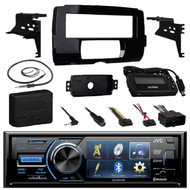 Bluetooth JVC DVD Stereo, Harley FLHX 2014-UP Install Adapter Kit,Marine Antenna (R-KDAV41BT-99-9700-ASWC-1)