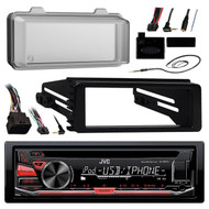99-9600 Harley FLTC Install Adapter Kit, Antenna, Cover, JVC USB AUX Receiver (R-KDR670-99-9600-ASWC-1)