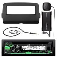JVC Bluetooth USB CD Radio,2014-UP Install Adapter DIN Kit,Antenna, Sirius Tuner (R-KDRD97BT-SXV300-V1-HD7001B)