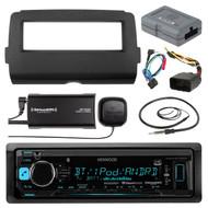 Bluetooth USB AUX Radio, Sirius Tuner,Antenna,Harley Install Batwing Adapter Kit (R-KMMBT315U-SXV300-V1-HD7001B-HDSWC2)