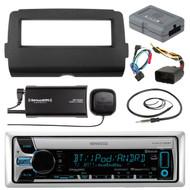 Harley Batwing Install Adapter Kit,Kenwood Bluetooth USB CD Radio,Tuner, Antenna (R-KMRD765BT-SXV300-V1-HD7001B-HDSWC2)