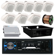 "Bluetooth Pyle USB Radio,Underdash Housing, Amplifier,3"" In-Ceiling Speaker Set (RVAS037)"