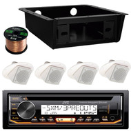 "KDR97MBS USB Bluetooth Stereo,CD Underdash Housing,2.5"" Ceiling Wall Speaker Set (RVAS101)"