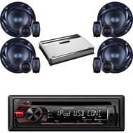 "Kenwood Car USB CD AUX AM FM Radio, 6.5"" 300 Watts 2Way Speakers,720W Amplifier (CMAPN813)"
