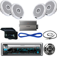 Kenwood Receiver, Wired Remote, 2X120W Speakers, Amplifier, Wire, Antenna,Cover  (MBNPN408)