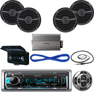 "Kenwood 600W Boat Amplifier,Bluetooth CD Radio,Cover,Antenna,6.5"" Speakers/Wires (MBNPN542)"
