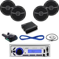 "Enrock Marine USB Bluetooth Radio,Housing, 6.5"" Speakers,Wires,Amplifier,Antenna (MBNPN642)"