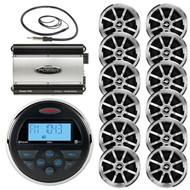 "Jensen Marine Bluetooth Gauge Radio,Antenna, 760W Amplifier,6.5"" Jensen Speakers (MPJSK1615)"