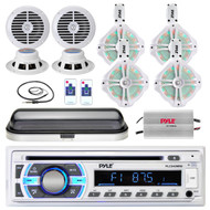"PLCD43MRB USB Bluetooth Radio, 6.5"" Speaker Set, 400W Amplifier, Cover, Antenna (MPPK16477)"