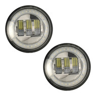 "Enrock HALO LED CREE IP67 Waterproof 4.5"" Harley Davidson Fog Lamps (Silver) (R-EOR40FGH-CR)"