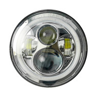 "Enrock HALO LED CREE IP67 Waterproof 7"" Harley Jeep High Low Beam Lamps (Silver) (R-EOR7002H-CR)"