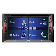 "JVC KWV140BT Double DIN In-Dash DVD/CD/AM/FM Bluetooth Car Stereo Receiver w/ 6.2"" Clear Resistive Touchscreen"