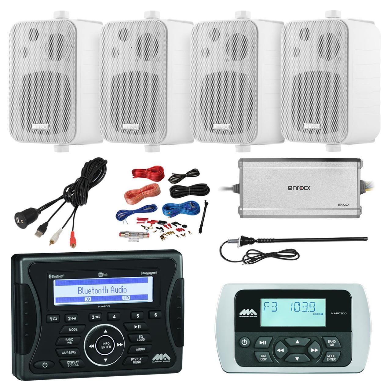 Jensen Marine Audio Bluetooth AUX USB SiriusXM-Ready Receiver, Wired ...