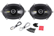 "Kicker 40CS684 6x8"" 225-Watt 4-Ohm 2-Way Car Audio Coaxial Speakers (Pair) (B-40CS684)"
