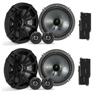 """4 x Kicker 6.5"""" Component Speaker System with .75-Inch tweeters, 4-Ohm (R-2-43CSS654)"""