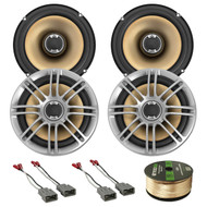 "4 Polk 6.5"" 2Way Coaxial Speakers,91-UP Honda/Acura Speaker Harness,Speaker Wire (R-2DB651-272-7800-EB14G50FT-CCA)"