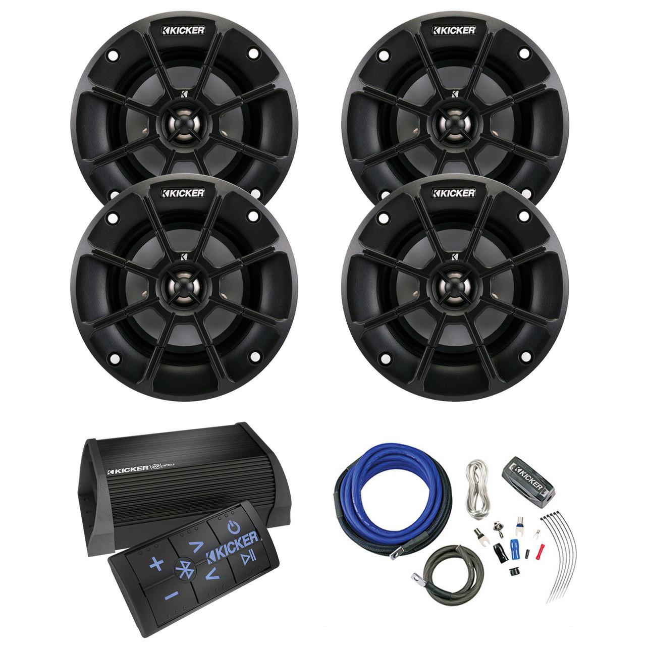 Kicker Bluetooth Amp w/ Remote, 4x 4\
