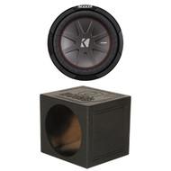 "Kicker 10"" Car Audio Subwoofer, Qpower Single 10"" QBomb Series Ported Sub Box (R-43CWR102--QBOMB10VLSINGLE)"