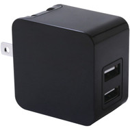 IWERKZ 44563 3.4-Amp Dual-Port USB Wall Charger (Black) (R-44563)