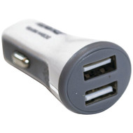 IWERKZ 44630 2.1-Amp Dual-Port USB Car Charger (White) (R-44630)