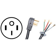 "CERTIFIED APPLIANCE 90-2080LG 4-Wire Range Cord, 50 Amps (4ft, With 3"" Longer Ground Wire) (R-90-2080LG)"