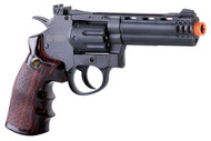 Game Face Gf600 (Grey/ Brown)Co2 Powered Semi-Auto 8 Shot 357 Revolver (R-ACG357)