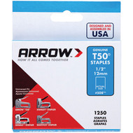 "Arrow 50824 T50(R) Staples, 1,250 pk (1/2"") (R-AFC50824)"