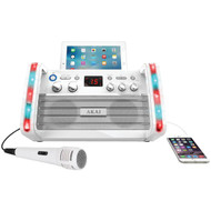 AKAI KS213W CD+G Karaoke System with iPad(R)/Tablet Cradle & Light Effect (R-AKAIKS213W)