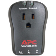 APC P1T 1-Outlet Travel Surge Protector with Telephone Protection (R-APNP1T)