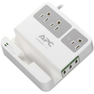 APC P3U3 3-Outlet SurgeArrest(R) Surge Protector with 3 USB Ports (White) (R-APNP3U3)