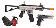 Crosman Commando Kit (Clear/ Black)Spring Powered Single Shot Rifle And Pistol Kit (R-AREKTC)