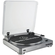 AUDIO TECHNICA AT-LP60 Fully Automatic Belt-Drive Turntable (Silver) (R-ATHATPL60)