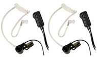 Midland Transparent Security Headsets With Ptt Vox  Pair (R-AVPH3)