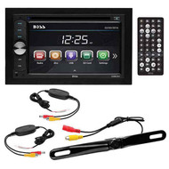 "Boss 6.2"" D.Din Dvd/Bt With Wireless License Plate Backup Camera (R-B9351WRC)"