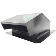 "BUILDERS BEST 012634 Black Metal Roof Vent Cap (6""-8"" (3 1/4"" x 10"") Universal Flush) (R-BDB012634)"