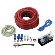 Amplifier Wiring Kit 4Ga;Bullzaudio; Red/Gold Edition; Box (R-BGE4RB)