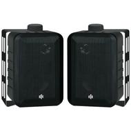"""BIC AMERICA RTRV44-2 4"""" RtR Series 3-Way Indoor/Outdoor Speakers (Black) (R-BICRTRV442)"""