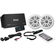 BOSS AUDIO ASK902B.6 Marine Amp with Bluetooth(R) & Marine Speakers Package (R-BOSASK902B6)