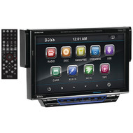 "BOSS AUDIO BV8974B 7"" Single-DIN In-Dash Drop-down DVD/MP3/CD & AM/FM Receiver with Bluetooth(R) (R-BOSBV8974B)"
