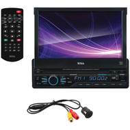 "BOSS AUDIO BVB9967RC 7"" Single-DIN In-Dash Motorized DVD/MP3/CD & AM/FM Receiver with Bluetooth(R) & Rear Camera (R-BOSBVB9967RC)"