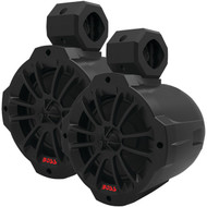 "BOSS AUDIO BM650AMPBT 2-Way Amplified Marine Wake Tower Speaker System with Bluetooth(R) (6.5"") (R-BOSM650AMPBT)"