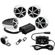 BOSS AUDIO MC650B 1,200-Watt Motorcycle/ATV 4-Speaker Sound System with Bluetooth(R) (R-BOSMC650B)