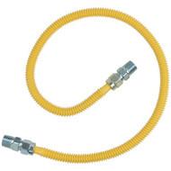 """BRASSCRAFT CSSD44-36 Gas Range & Gas Furnace Flex-Line (1/2"""" OD x 36"""", 1/2"""" MIP x 1/2"""" MIP, Up to 71,100 BTU) (R-BSSCSSD4436)"""