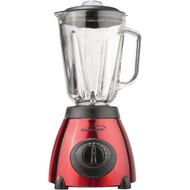 BRENTWOOD JB-810 5-Speed Blender with Stainless Steel Base & Glass Jar (Red) (R-BTWJB810)