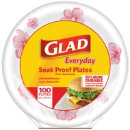 "Glad BBP0093 8.5"" Paper Plates, 100-ct (Round, Pink Flower) (R-BUZZBBP0093)"