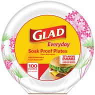 """Glad BBP0095 8.5"""" Paper Plates, 100-ct (Round, Pink Hydrangea) (R-BUZZBBP0095)"""