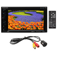 "Boss 6.2"" D.Din Dvd/Bt With License Plate Backup Camera (R-BVB9358RC)"