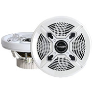 "BAZOOKA MAC6510W Marine 2-Way Coaxial Speakers (6.5"", White) (R-BZKMAC6510W)"