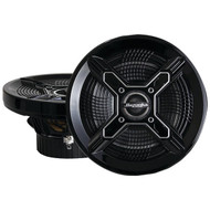 "BAZOOKA MAC8100B Marine 2-Way Coaxial Speakers (8"", Black) (R-BZKMAC8100B)"